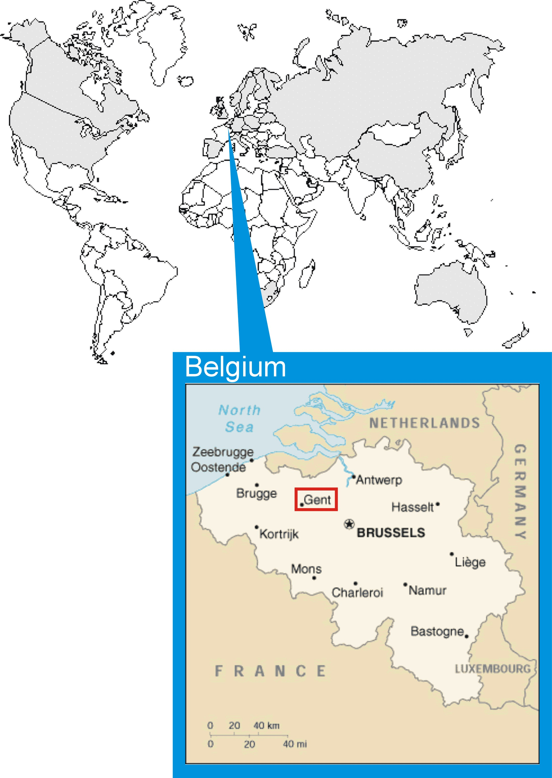 Brussels On World Map